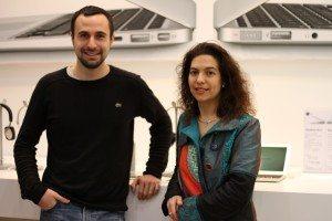 Benjamin Rouzières gérant de iStore et Lucrèce Tressol, présidente de l'AEP81